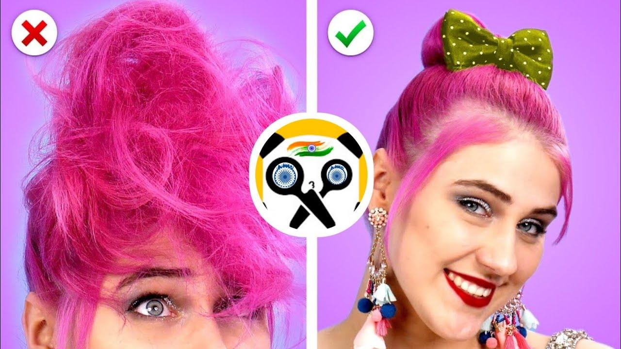 Weird Ways HAIR STYLE  Class || Edible DIY School Supplies And Food Pranks by Crafty Panda