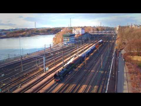 Ukko-Pekka train in Helsinki, Finland *4K*