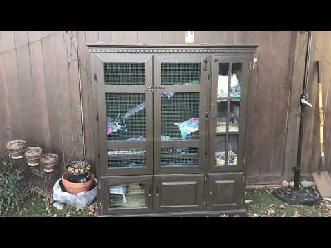 Rabbit Hutch from Old Entertainment Center