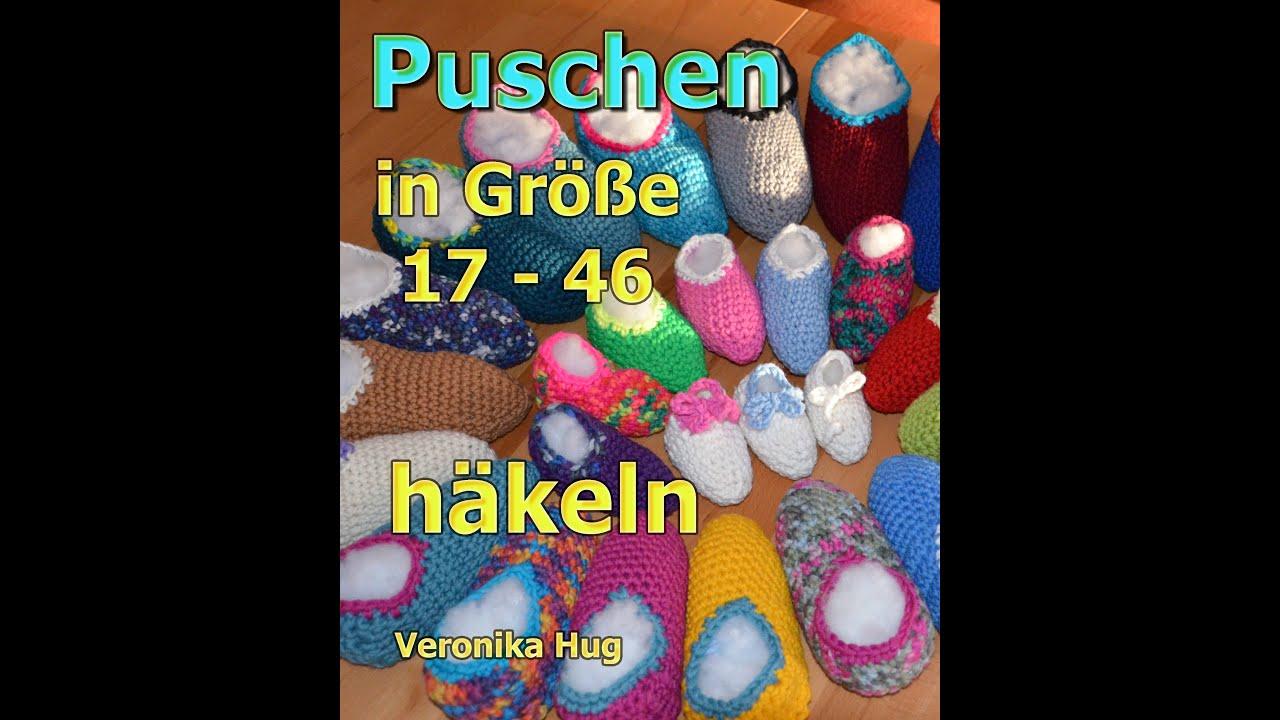 Puschen Häkeln In Größe 17 46 Veronika Hug Youtube