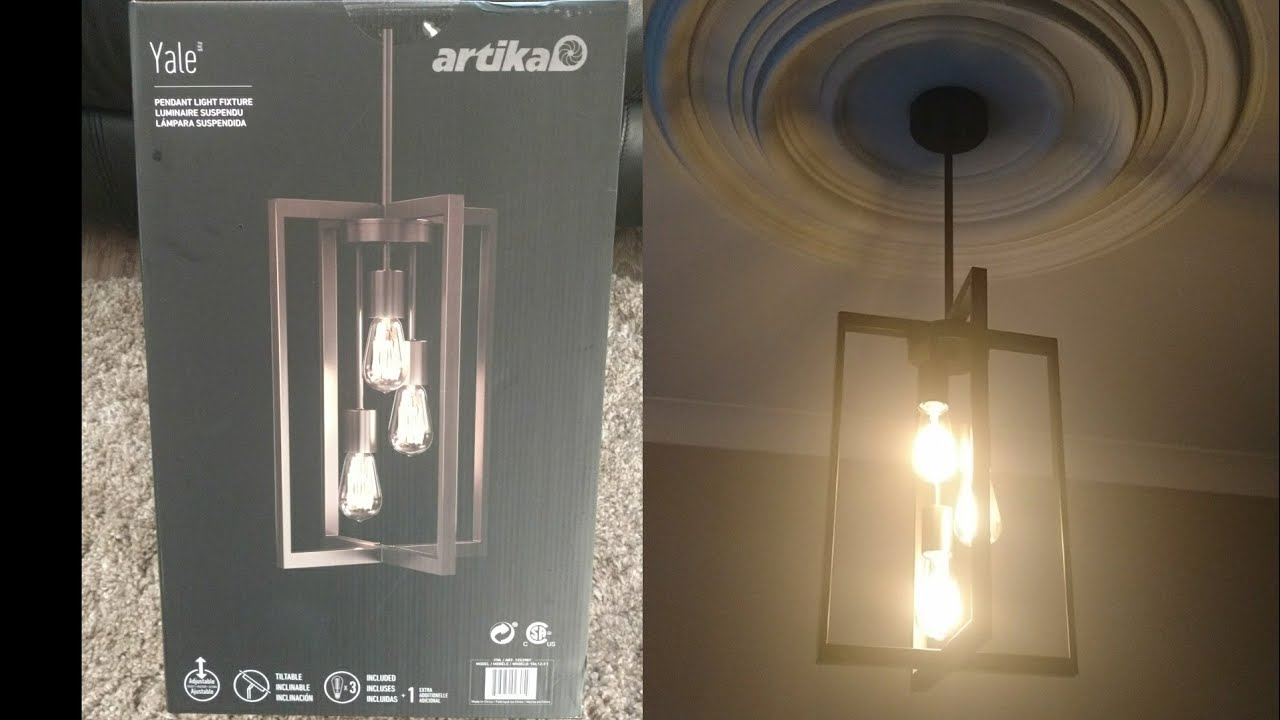 artika pendant light fixture from costco unboxing and how to install