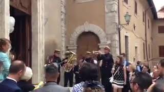 Music wedding central Italy Fire dixieland jazz band