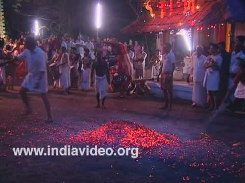 Fire Rituals at Wayanattu Kulavan Temple