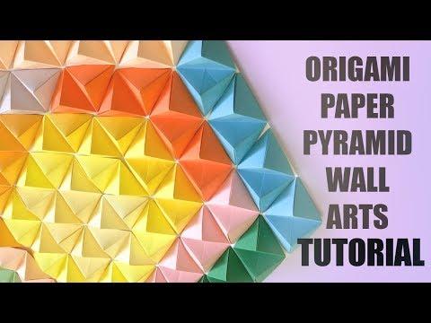 Origami Paper Pyramid Wall Arts