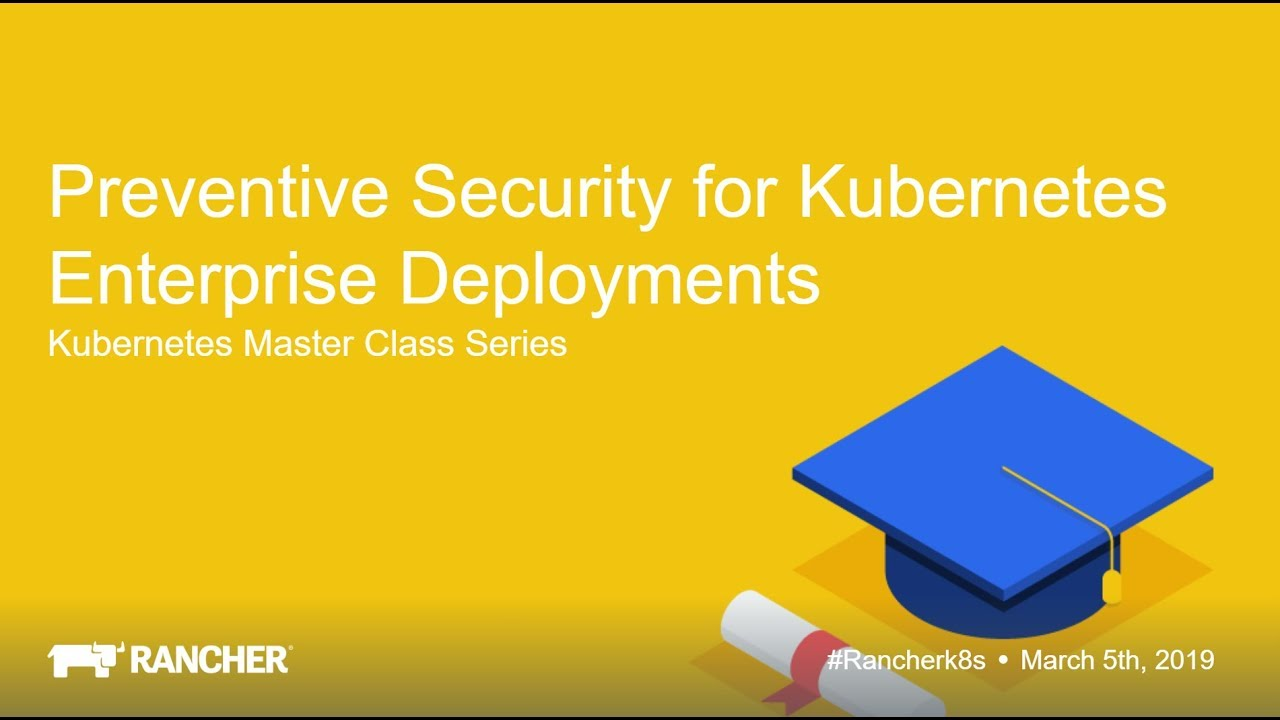 Kubernetes Master Class Preventive Security for Kubernetes Enterprise  Deployments