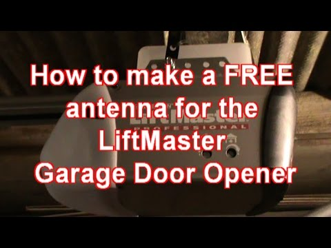 Making An Antenna For A Liftmaster Garage Door Opener Youtube