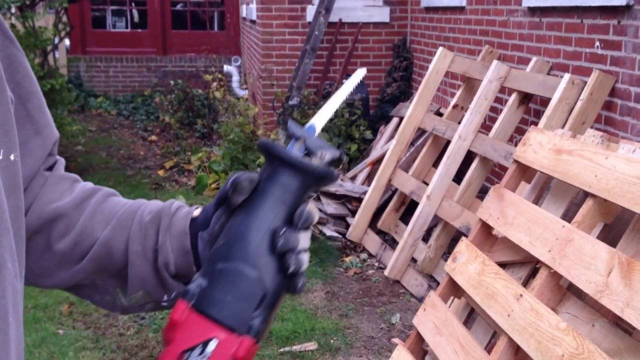 How To Build A Pallet Wall Youtube