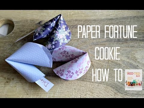 How to make a fortune cookie out of construction paper