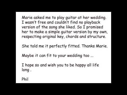 Take my Hand The Wedding Song guitar playback version