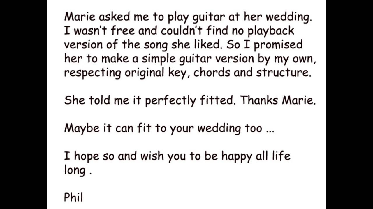 Songs To Play At A Wedding | Take My Hand The Wedding Song Guitar Playback Version Youtube
