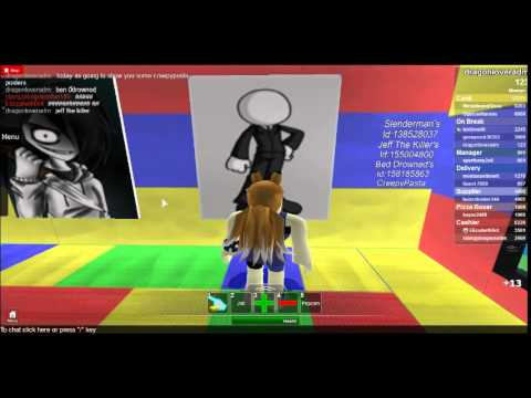 Roblox Work At A Pizza Place Creepypasta Id S Youtube