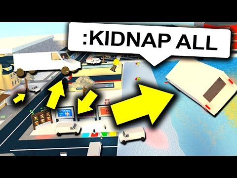KIDNAPPING EVERYONE WITH ROBLOX ADMIN COMMANDS