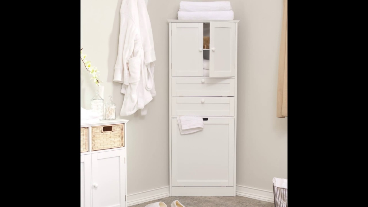White Bathroom Cabinet bathroom wall cabinets - YouTube