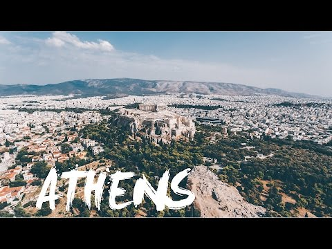 Epic drone flyby of Athens