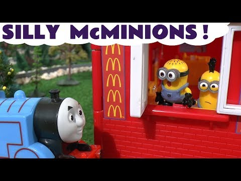 Despicable Me 3 Minions at McDonalds Drive Thru with Thomas and Friends and Disney Cars Toys TT4U