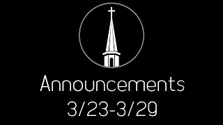 Announcements 3-23
