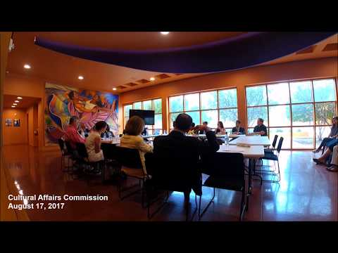 Cultural Affairs Commission Meeting - August 17, 2017