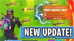 New LEGENDARY BURST RIFLE Victory Royale! New Fortnite Battle Royale Update! (New Fortnite Update)