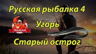 Угорь на старом остроге,  Русская рыбалка 4, где ловить угря, как ловить угря
