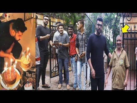 Arjun Kapoor's Birthday Celebrations With Rickshaw Driver & FANS Waiting Outside House In Mumbai