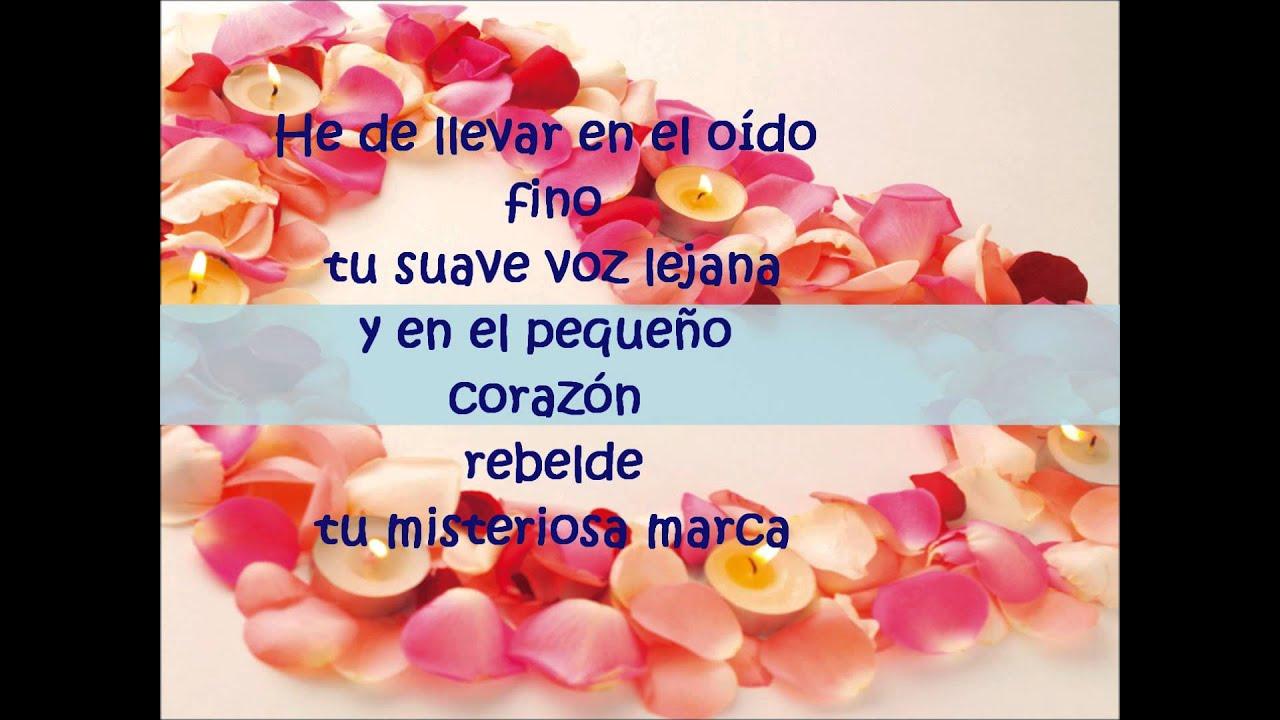 Poema Antifona Del Amor Inmutable De Claudia Lars Youtube