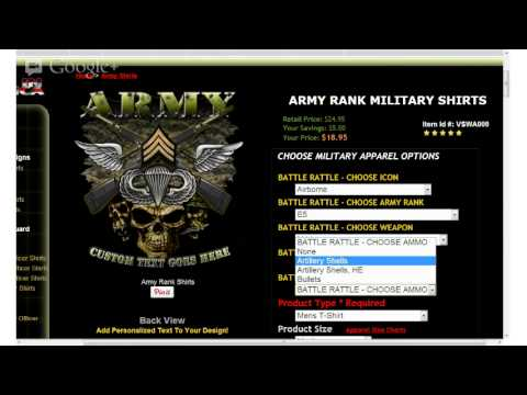 How To Battle Rattle A Vision-Strike-Wear Military Shirt Design-Army Ranks
