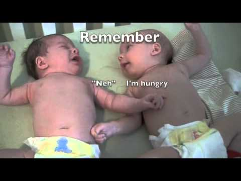 Twins in Crib