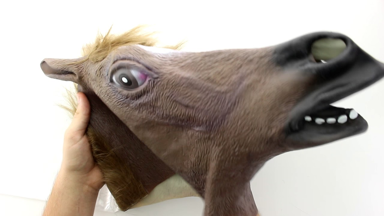 Unboxing Bingsale Pferdemaske Für Halloween Maske Latex Tiermaske Pferdekopf