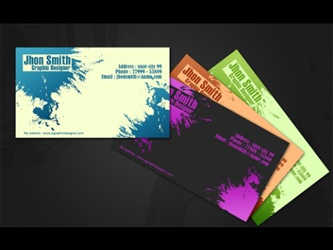 Create creative business card in photoshop youtube reheart Images
