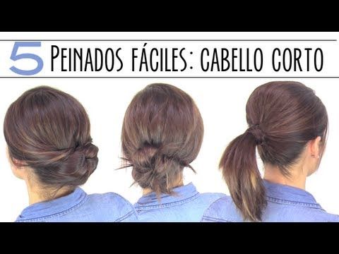 Peinados Faciles Para Cabello Corto O Media Melena Youtube
