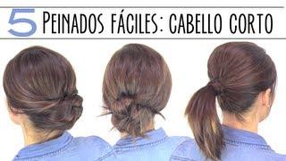 Peinados Recogidos Para Cabello Corto Faciles Cortes De Pelo Con