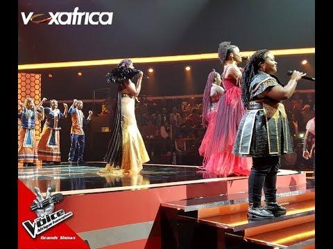 Passage en Groupe des Talents avec la Chorale Sud Africaine l Grande Finale l The Voice Afrique 2018