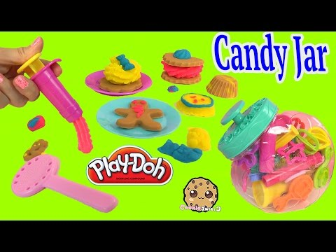 Playdoh Candy Jar Faux Cookies Gummy Bears Candy Lolly Pop Maker Playset - Cookieswirlc