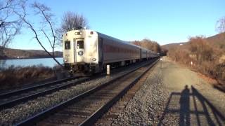 Hudson Line Trains at Manitou on New Year