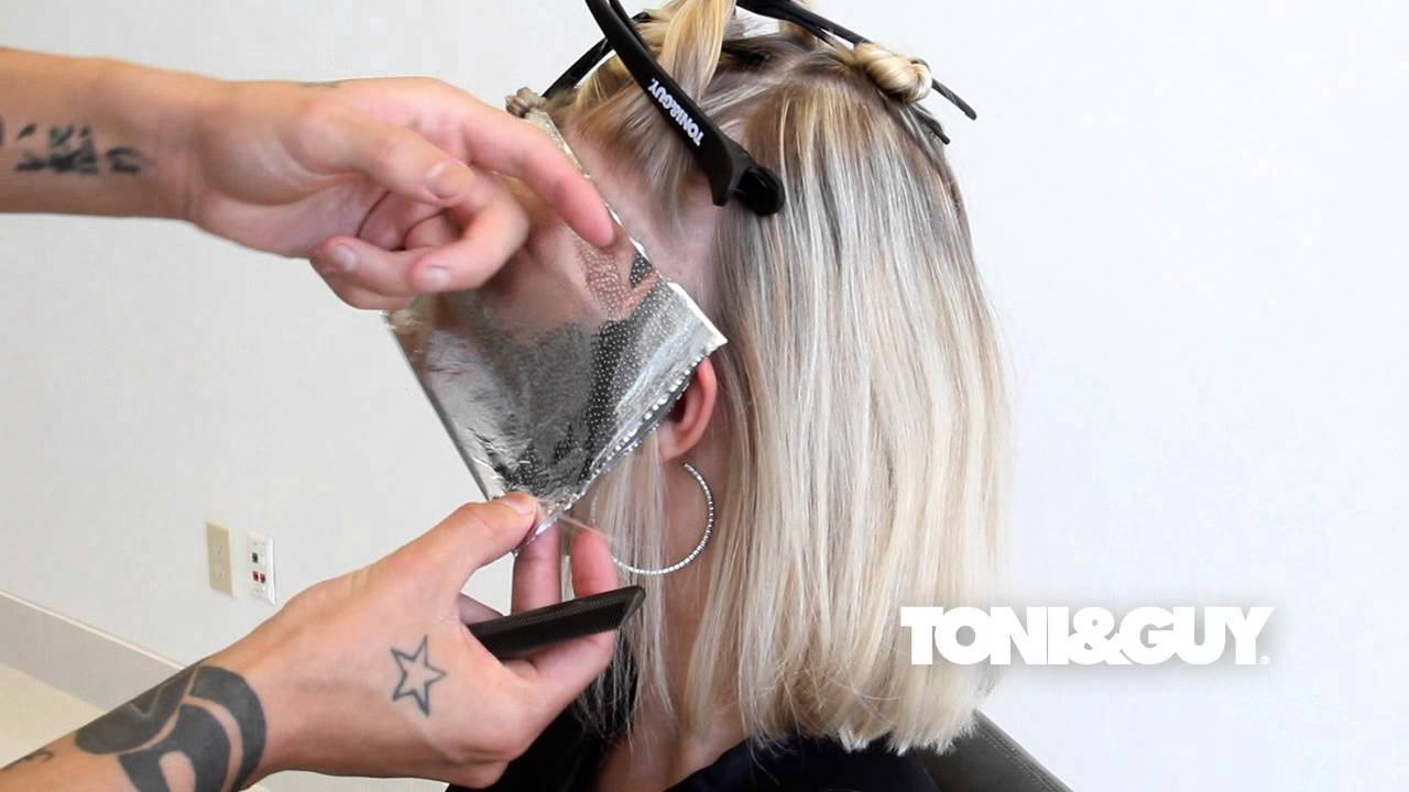 How to color highlight hair toniguy hair color technique how to color highlight hair toniguy hair color technique platinum blonde champagne blonde youtube pmusecretfo Choice Image