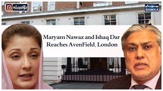 Maryam Nawaz and Ishaq Dar Reaches AvenField, London | SAMAA TV