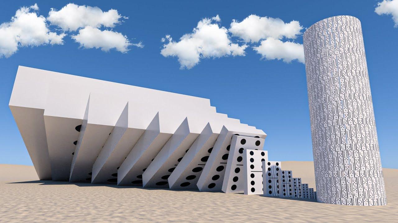 Big domino effect IN REVERSE! VS Domino Tower