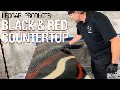 Black & Red Epoxy Countertop | Kit 5