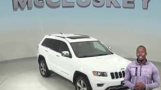 A99218TA Used 2015 Jeep Grand Cherokee Limited 4WD SUV White Test Drive, Review, For Sale -