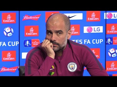 Pep Guardiola Full Pre-Match Press Conference - Wigan v Manchester City - FA Cup