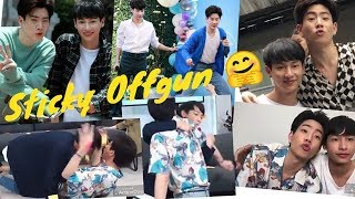 "Offgun ""new"" Moment!! Being Sticky 💕 #offgun #babii #tol"