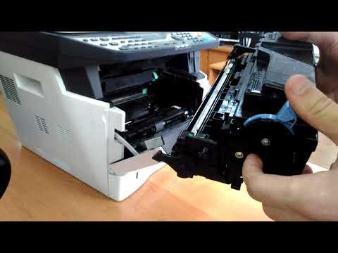 Как вставить картридж в принтер kyocera