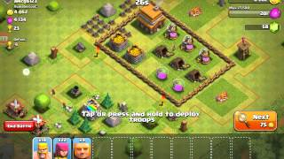 Clash of Clans First Live Raid!!!