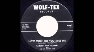 Harold Montgomery With The Ray Johnson Band How Much Do You Miss Me WOLF-TEX 103