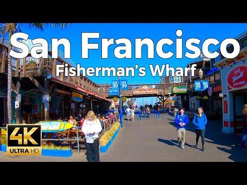 San Francisco, California Walking Tour - Fisherman's Wharf  (4K Ultra HD 60fps)