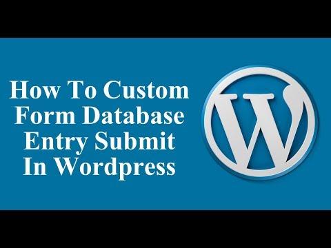 How To Custom Form Database Enter In Wordpress - Wordpress Tutorial thumbnail