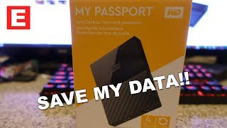 WD My Passport 4TB External Hard Drive Unboxing