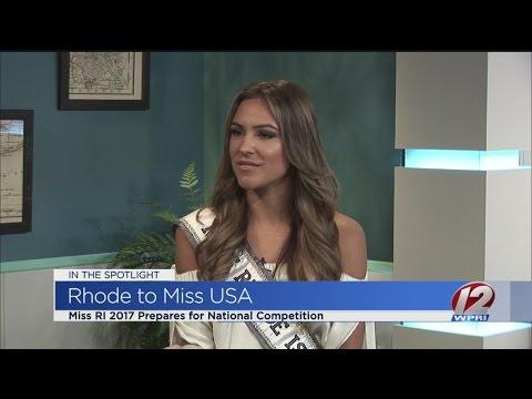 Miss RI 2017 preps for Miss USA