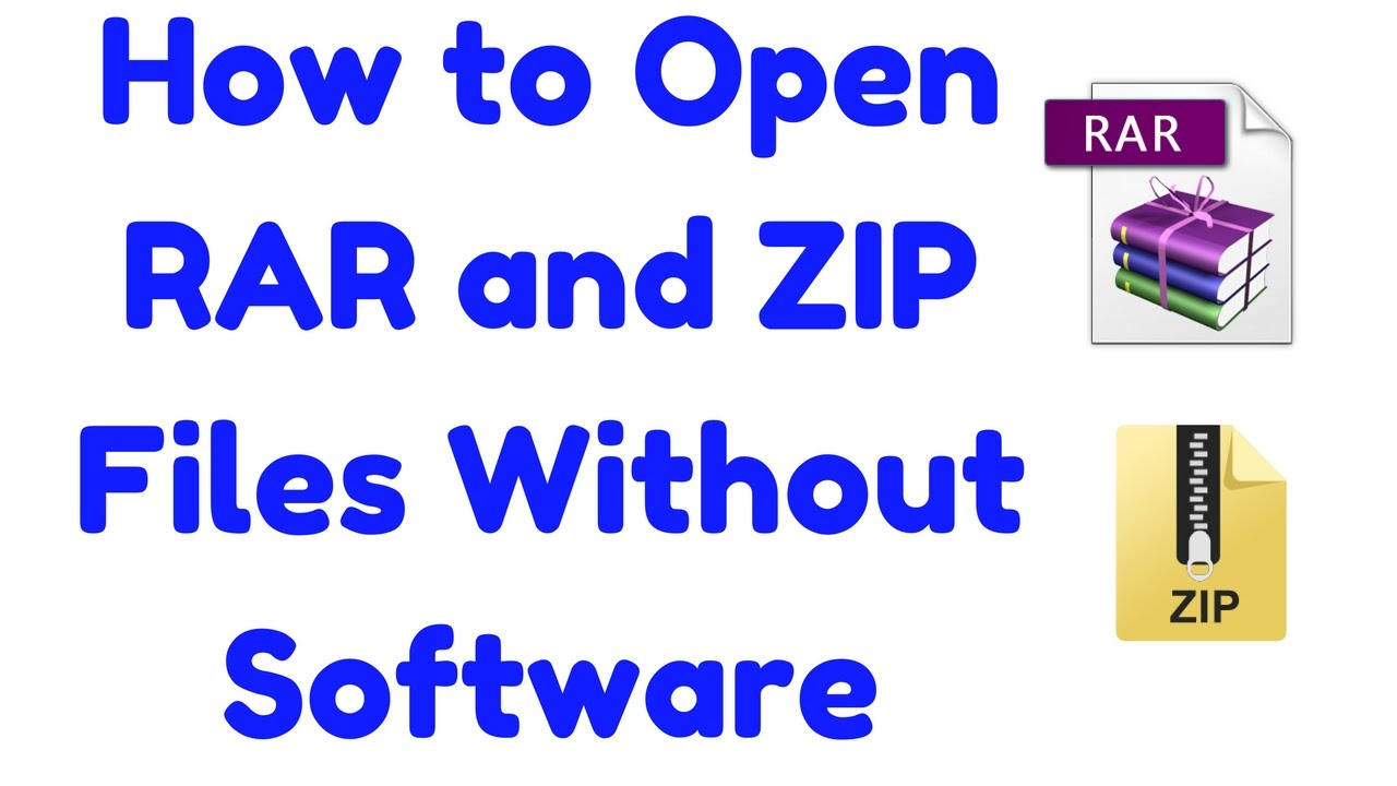 rar extension how to open