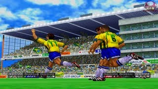 Intro + Gameplay: Virtua Striker 2 Ver. 2000.1 (Sega Dreamcast) HD